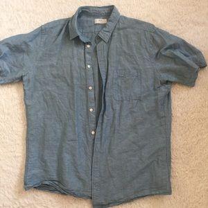 Uniqlo XL blue shirt